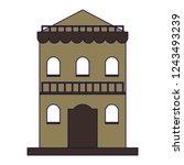 residence building isolated   Shutterstock .eps vector #1243493239