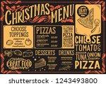 christmas menu template for... | Shutterstock .eps vector #1243493800