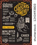 christmas menu template for... | Shutterstock .eps vector #1243493803