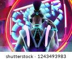 3d illustration of a sci fi... | Shutterstock . vector #1243493983