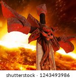 3d illustration of a steel... | Shutterstock . vector #1243493986