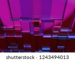 3d illustration of purple with... | Shutterstock . vector #1243494013