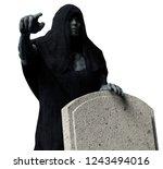 3d illustration of a grim... | Shutterstock . vector #1243494016