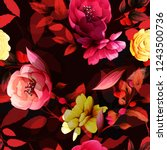seamless floral background... | Shutterstock .eps vector #1243500736