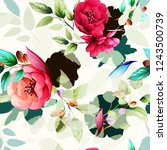 seamless floral background... | Shutterstock .eps vector #1243500739