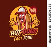hot dogs logo for fast food | Shutterstock .eps vector #1243506286
