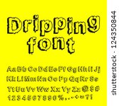 abstract dripping font. vector... | Shutterstock .eps vector #124350844