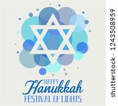 hanukkah greeting card or... | Shutterstock .eps vector #1243508959