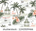 beautiful tropical vector... | Shutterstock .eps vector #1243509466