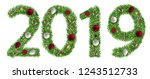 christmas alphabet number 2019... | Shutterstock .eps vector #1243512733