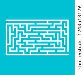 abstract rectangular maze. game ...   Shutterstock .eps vector #1243513129