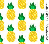 tropical pineapple fruit... | Shutterstock .eps vector #1243517896