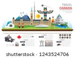 info garphic travel and... | Shutterstock .eps vector #1243524706