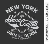 vintage typo tee print design... | Shutterstock .eps vector #1243531153