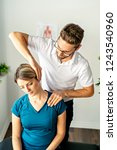a modern rehabilitation... | Shutterstock . vector #1243540960