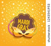 vector new orleans mardi gras... | Shutterstock .eps vector #1243541953