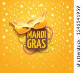 vector new orleans mardi gras... | Shutterstock .eps vector #1243541959