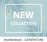 trendy chic social media banner ...   Shutterstock .eps vector #1243547146