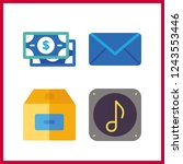 4 send icon. vector... | Shutterstock .eps vector #1243553446