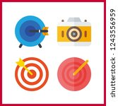 4 aiming icon. vector... | Shutterstock .eps vector #1243556959