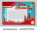 christmas greeting card with... | Shutterstock .eps vector #1243557949