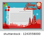 christmas greeting card with... | Shutterstock .eps vector #1243558000