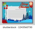 christmas greeting card with... | Shutterstock .eps vector #1243560730