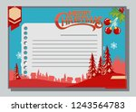 christmas greeting card with... | Shutterstock .eps vector #1243564783