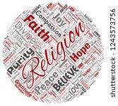 vector conceptual religion  god ... | Shutterstock .eps vector #1243573756