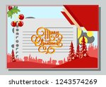 christmas greeting card with... | Shutterstock .eps vector #1243574269