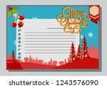 christmas greeting card with...   Shutterstock .eps vector #1243576090