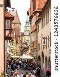 rothenburg ob der tauber ... | Shutterstock . vector #1243576636