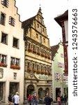 rothenburg ob der tauber ... | Shutterstock . vector #1243576663