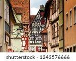 rothenburg ob der tauber ... | Shutterstock . vector #1243576666