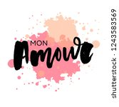 mon amour postcard. my love in... | Shutterstock .eps vector #1243583569