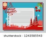 christmas greeting card with... | Shutterstock .eps vector #1243585543