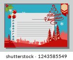 christmas greeting card with... | Shutterstock .eps vector #1243585549