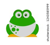 frog vector made with golden... | Shutterstock .eps vector #1243585999