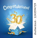30 th years anniversary and... | Shutterstock .eps vector #1243594729