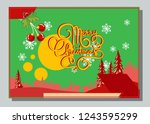 christmas greeting card with... | Shutterstock .eps vector #1243595299