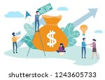 the girl and the man make a...   Shutterstock .eps vector #1243605733