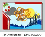 christmas greeting card with... | Shutterstock .eps vector #1243606300