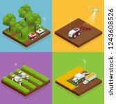 isometric agriculture automatic ... | Shutterstock .eps vector #1243608526