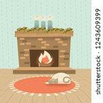 a retro modern illustration of...   Shutterstock .eps vector #1243609399