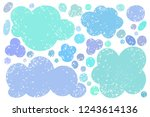 hand drawn callout clouds for... | Shutterstock .eps vector #1243614136