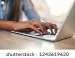 Woman Typing On The Keyboard O...