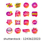 sale banner templates design.... | Shutterstock .eps vector #1243622023