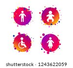wc toilet icons. human male or... | Shutterstock .eps vector #1243622059