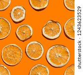 seamless citrus chips pattern... | Shutterstock . vector #1243623529