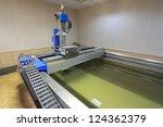 production of metal titanium | Shutterstock . vector #124362379